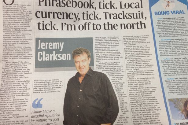 Jeremy Clarkson's Sunday Times article