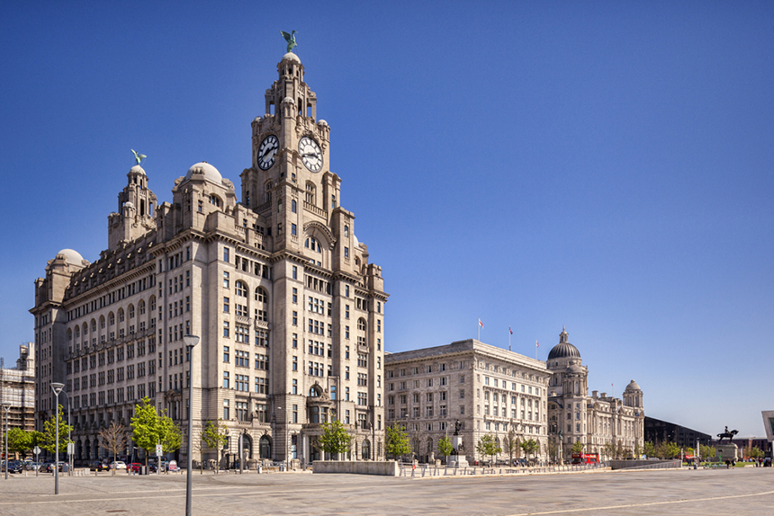 Liverpool's Three Graces on the Pier Head