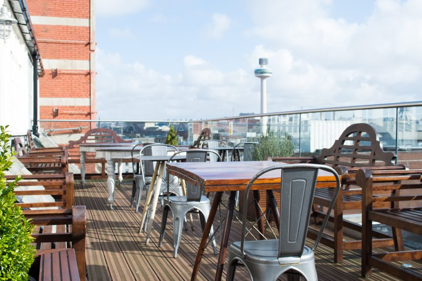 Carpathia rooftop terrace - outdoor lunch venues Liverpool