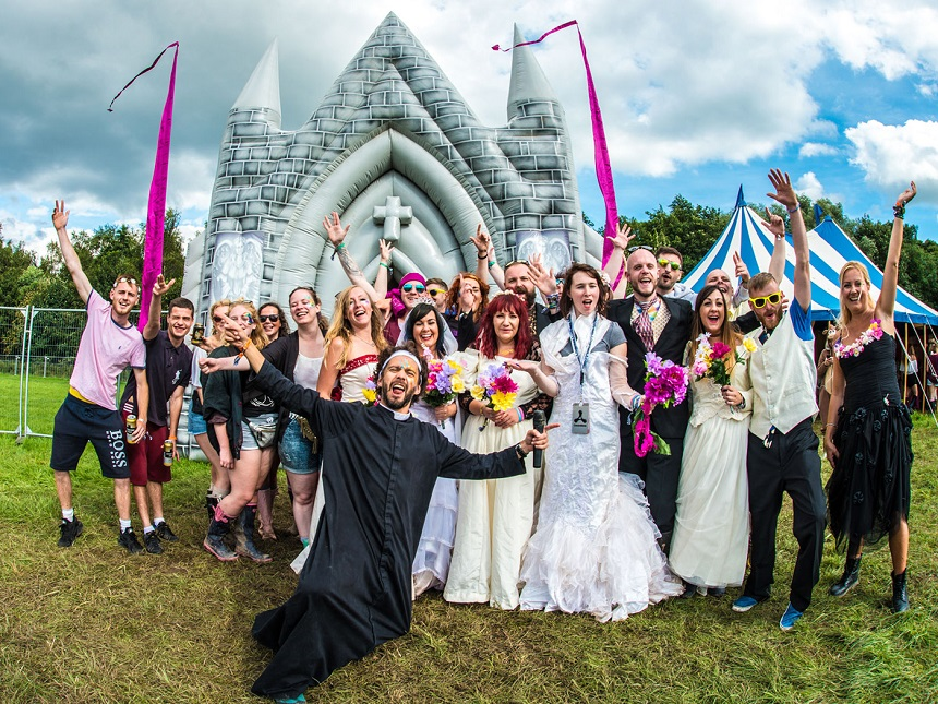 Inflatable Church wedding - Creamfields 2017