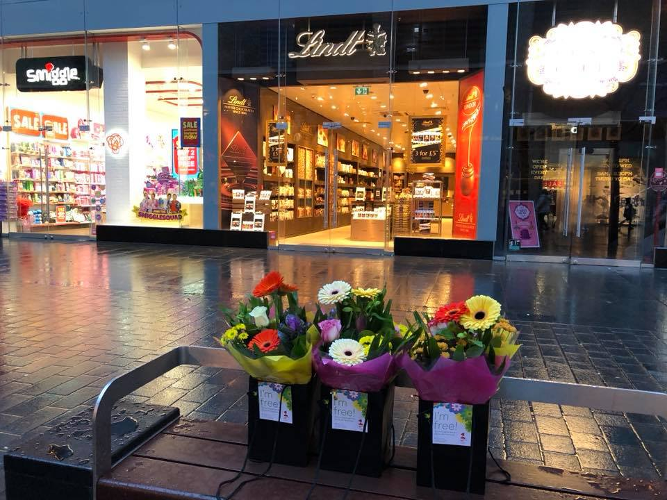 Blue Monday flowers Liverpool