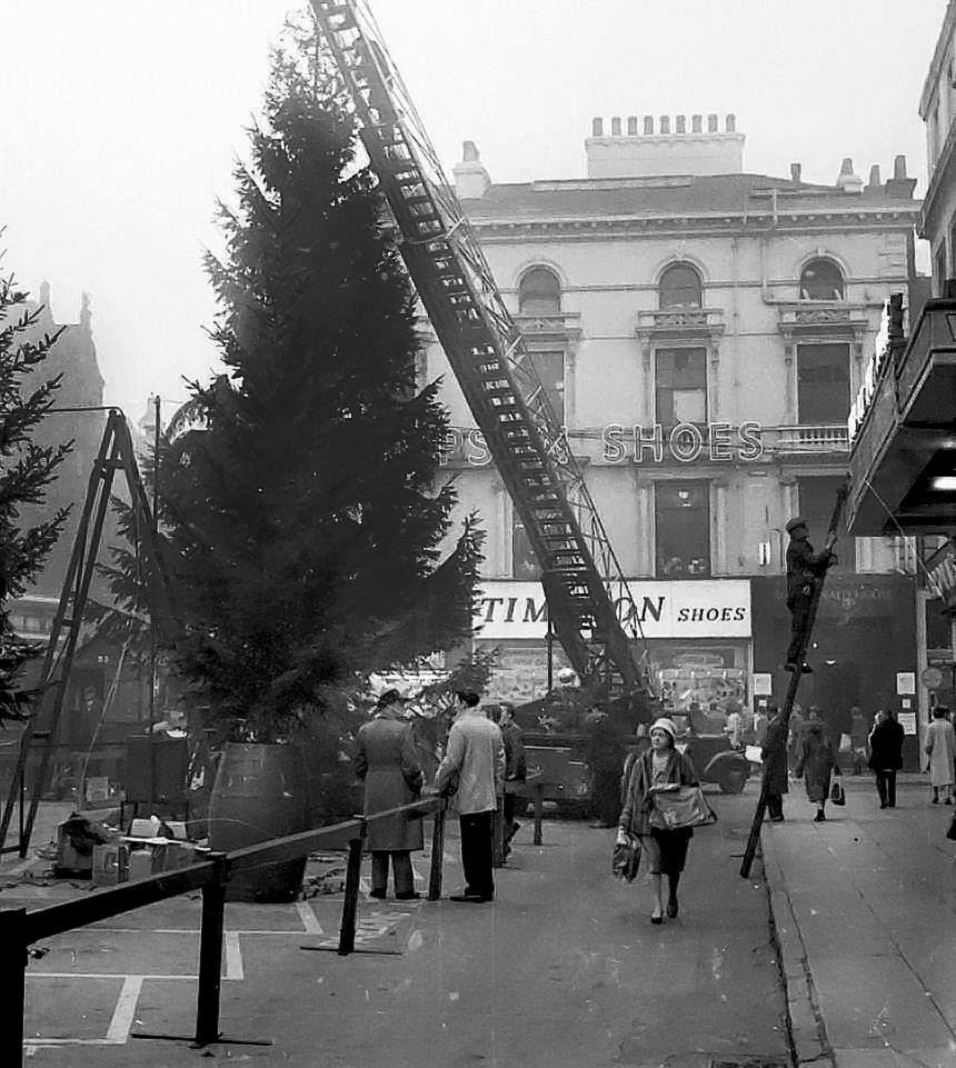 Clayton Sqaure Christmas Tree 50s early 60s