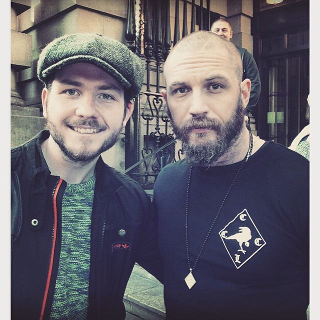 Tom Hardy -with a fan in Liverpool