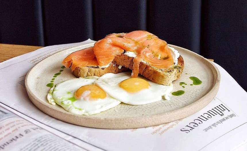 Healthy Salmon and Eggs for Breakfast liverpool at Belzan