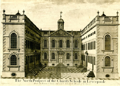 Early drawing of Bluecoat 300th birthday