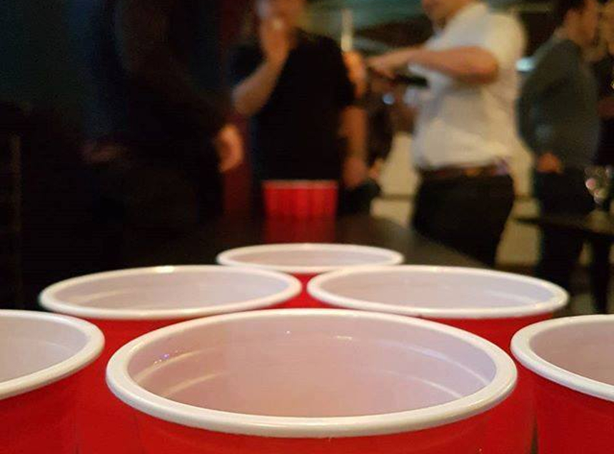 roxy ball room beer pong father's day