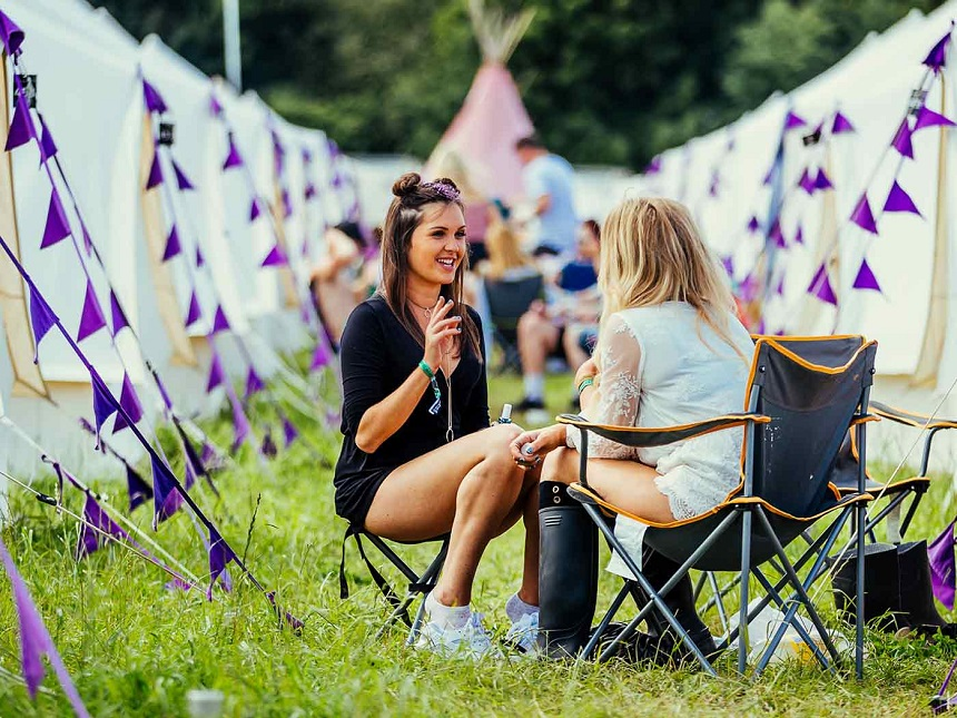 Camping friends at Creamfields 2017