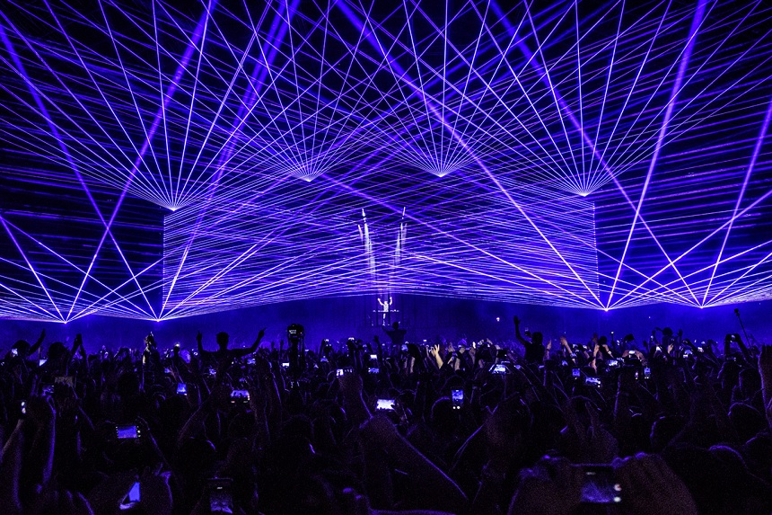 Purple lasers Steel Yard - Creamfields 2017