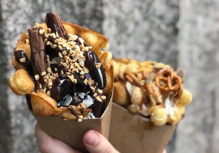Bubble Waffle cone - things to do in Liverpool 2018