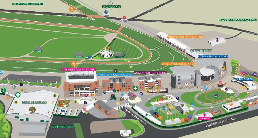 Course Layout - Aintree Grand National 2019