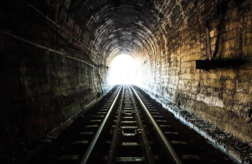 Merseyrail trains tunnel