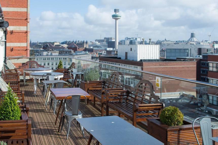 Rooftop Breakfast at Carpathia Bar and Restaurant Liverpool