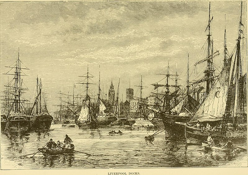 Liverpool Docks in the 1700s