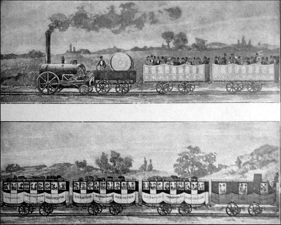 George Stephenson´s steam locomotive,